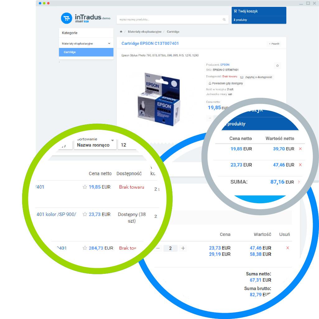 Możliwości platformy B2B - wielowalutowość